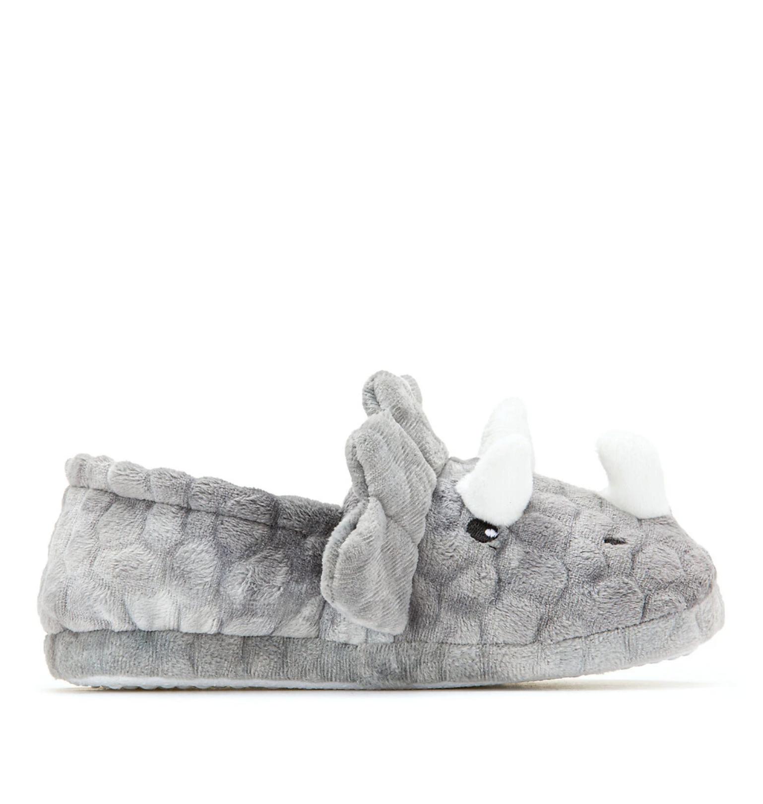 Zapatillas de casa, cabeza de dinosaurio