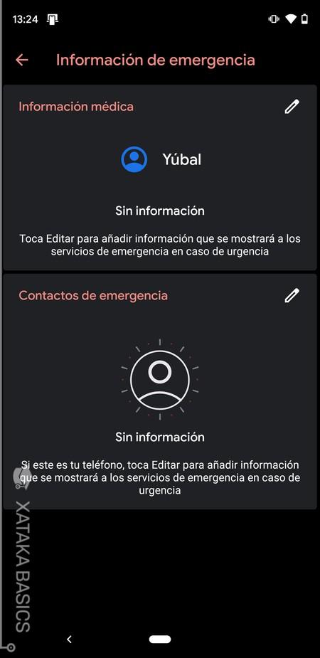 Menu De Info De Emergencia