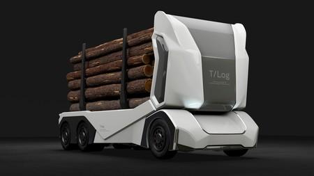 Sin cabina, interconectado y con 200 km de autonomía: así es el primer camión maderero 100 % eléctrico