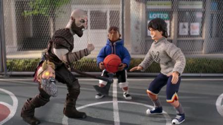 Kratos y Atreus juegan al basket al estilo God of War en el comercial más disparatado de PS4 Pro