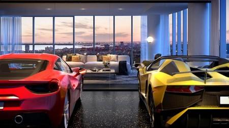 En este complejo de apartamentos de lujo de Melbourne... ¡podrás aparcar tu coche dentro de casa!
