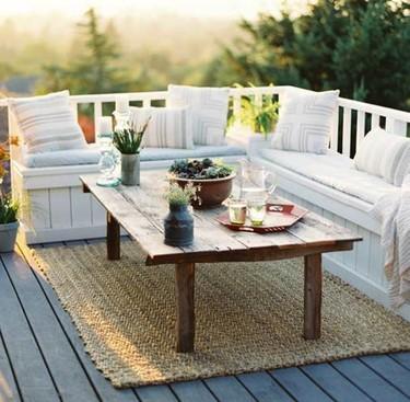 Decorando la terraza con un estilo muy natural: 17 ideas de inspiración orgánica