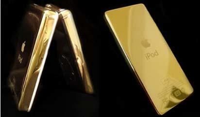 iPod bañado en oro
