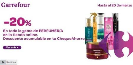 20% de descuento en perfumería en la tienda online de Carrefour