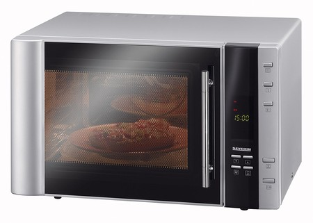 Oferta flash en el horno microondas con grill y aire caliente Severin MW 7803: hasta medianoche cuesta 125 euros en Amazon