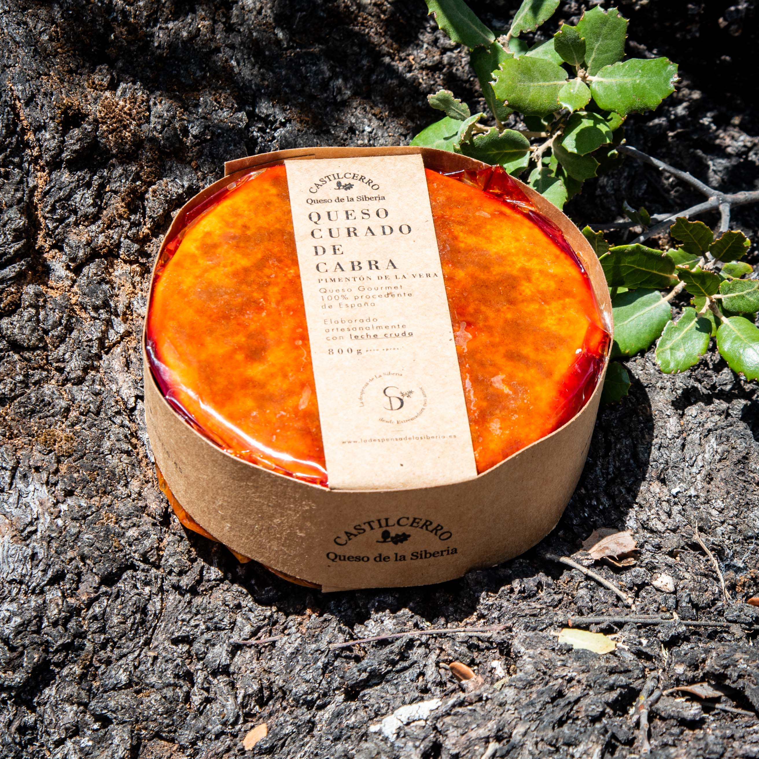 Queso de Cabra con pimentón de La Vera (cuarto, medio o entero) de La Despensa de La Siberia.