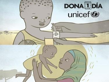 Dona 1 día, campaña de Unicef contra la desnutrición infantil