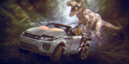 Lara Croft Range Rover Evoque Convertible