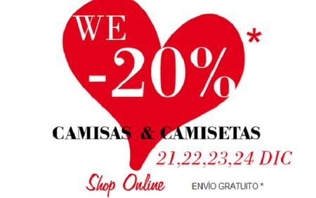 Paga un 20% en camisas y camisetas de Stradivarius