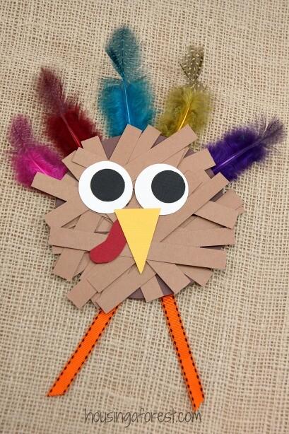 Thanksgiving Crafts For Kids Paper Strip Turkey 5