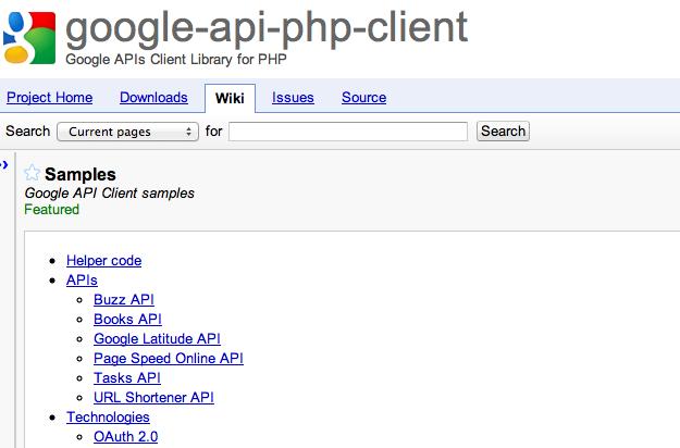 Cliente API Google en PHP