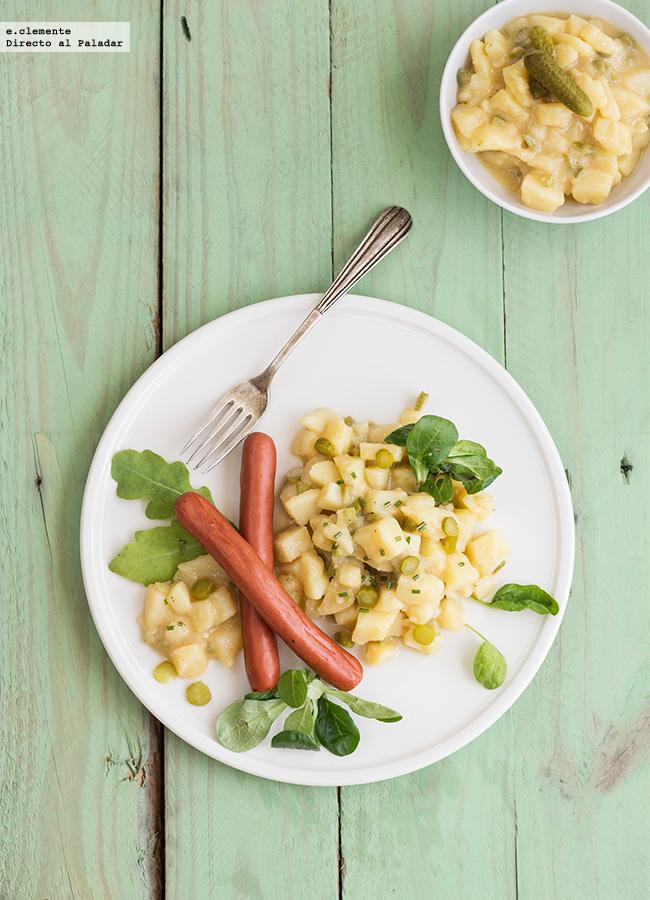 C mo hacer ensalada alemana de patata o kartoffelsalat receta - Ensalada alemana de patatas ...