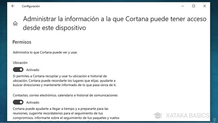 Informacion Cortana