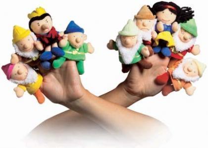 Marionetas de dedos, para imaginar cualquier historia