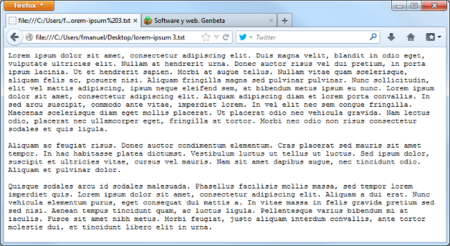 Firefox 22, ajuste de texto plano