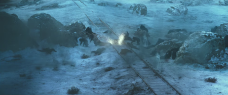 Guerra Planeta Simios Nieve