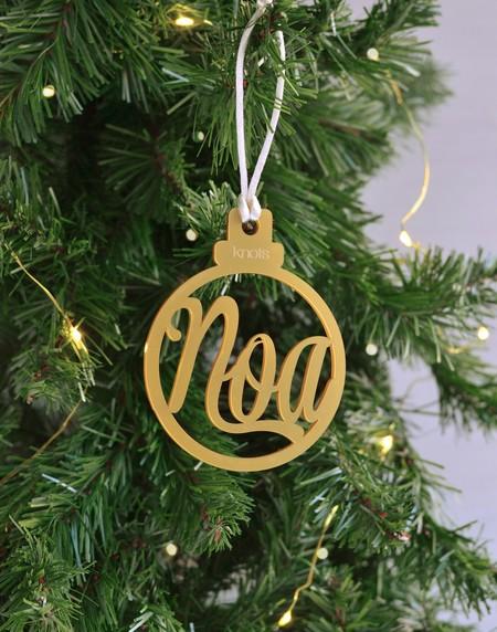 Decoración de Navidad personalizada
