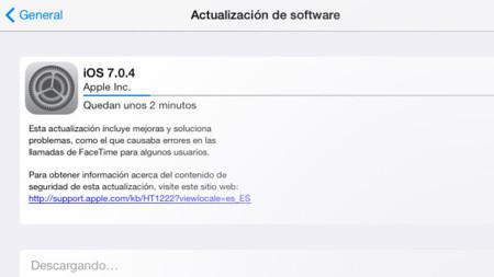 Apple lanza iOS 7.0.4 con mejoras y solución de errores en FaceTime