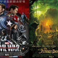 Taquilla: Disney domina el mundo con 'Capitán América: Civil War' y 'El libro de la selva'