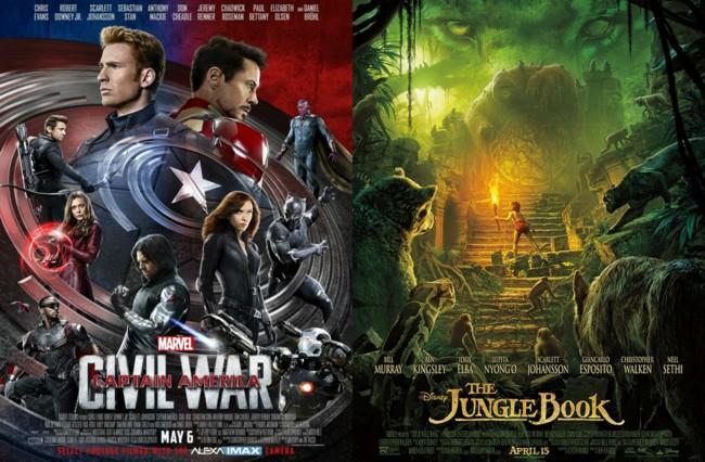 Civil War y Jungle Book