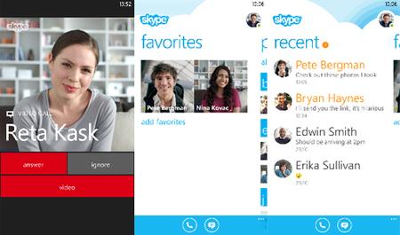 Así es Skype para Windows Phone 8