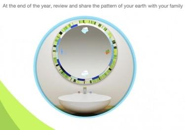 Circle Mirror, el espejo que te dice la cantidad de agua que gastas