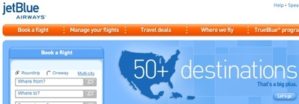 Google Maps en el avión y concurso de JetBlue