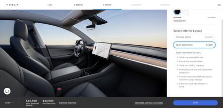 Tesla Model Y Standard Range Interior
