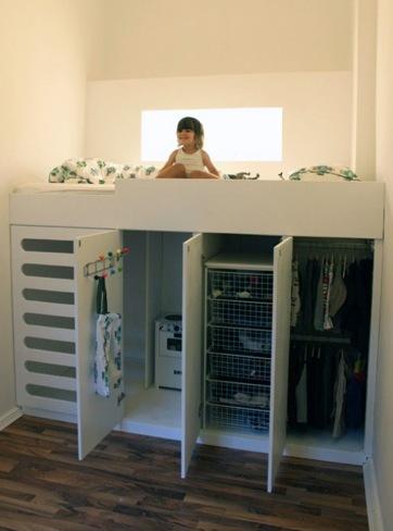 ¿Buena o mala idea?: la cama encima del armario