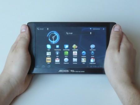 Archos 70b Internet Tablet con Honeycomb a prueba