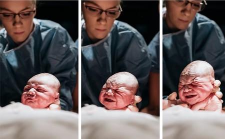 Una madre fotografía su propio parto y las imágenes son espectaculares