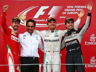 Nico Rosberg aumenta distancias en el mundial tras la victoria en el Gran Premio  de Europa en Azerbaiyán