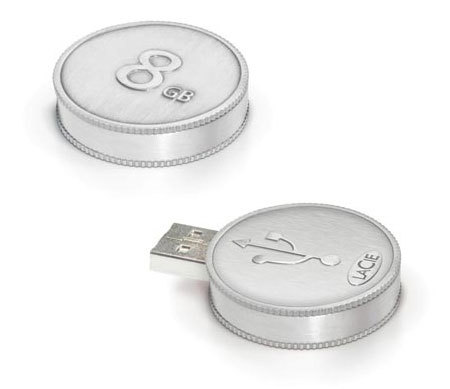 Moneda USB de LaCie