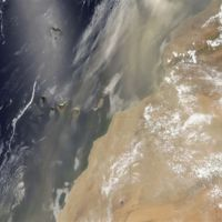 Así fue la tormenta de arena que azotó Canarias y cruzó el Atlántico vista por la NASA