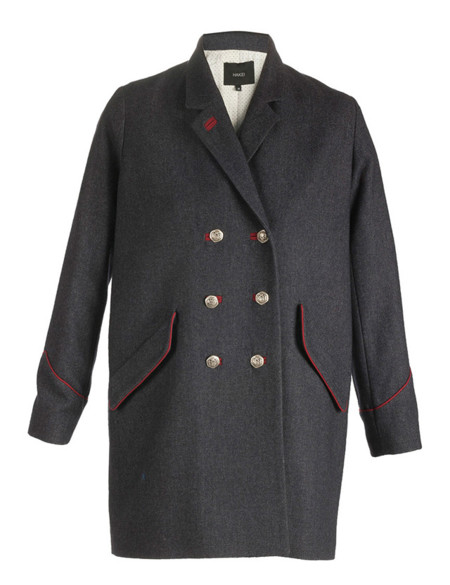 Abrigo gris militar de Isabel Marant Otoño-Invierno 2012/2013 clon Hakei Otoño-Invierno 2013/2014