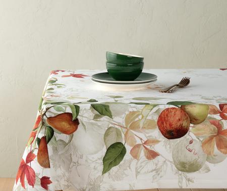 Mantel peras y manzanas