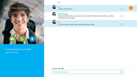 Skype se integra en los hubs de Windows 8