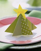 Tarjetas de Navidad con forma de árbol