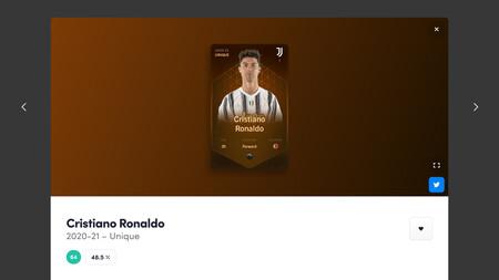 El cromo único de Cristiano Ronaldo en la temporada 2020-2021
