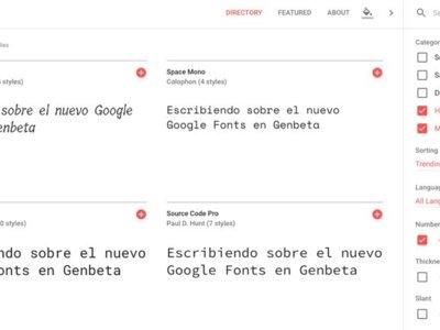 La nueva web de Google Fonts, un pequeño paraíso para los coleccionistas de tipografías