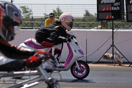 Una carrera de motos muy peculiar