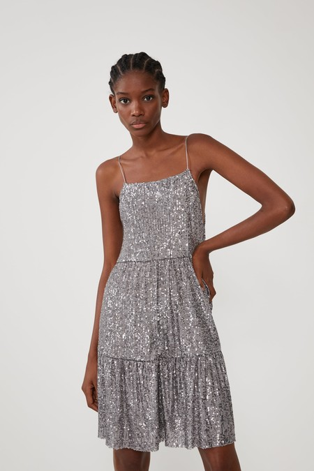 Vestido Plateado Zara 12