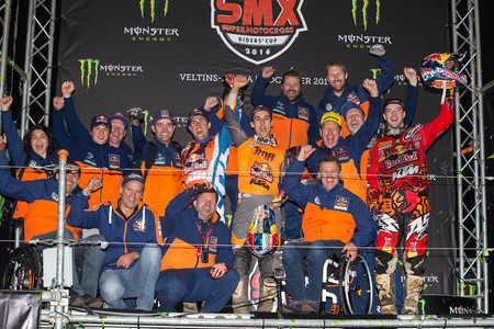 Ryan Dungey Jeffrey Herlings Marvin Musquin Ktm Smx Veltins Arena 2016