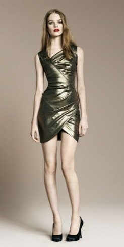 Zara vestido dorado