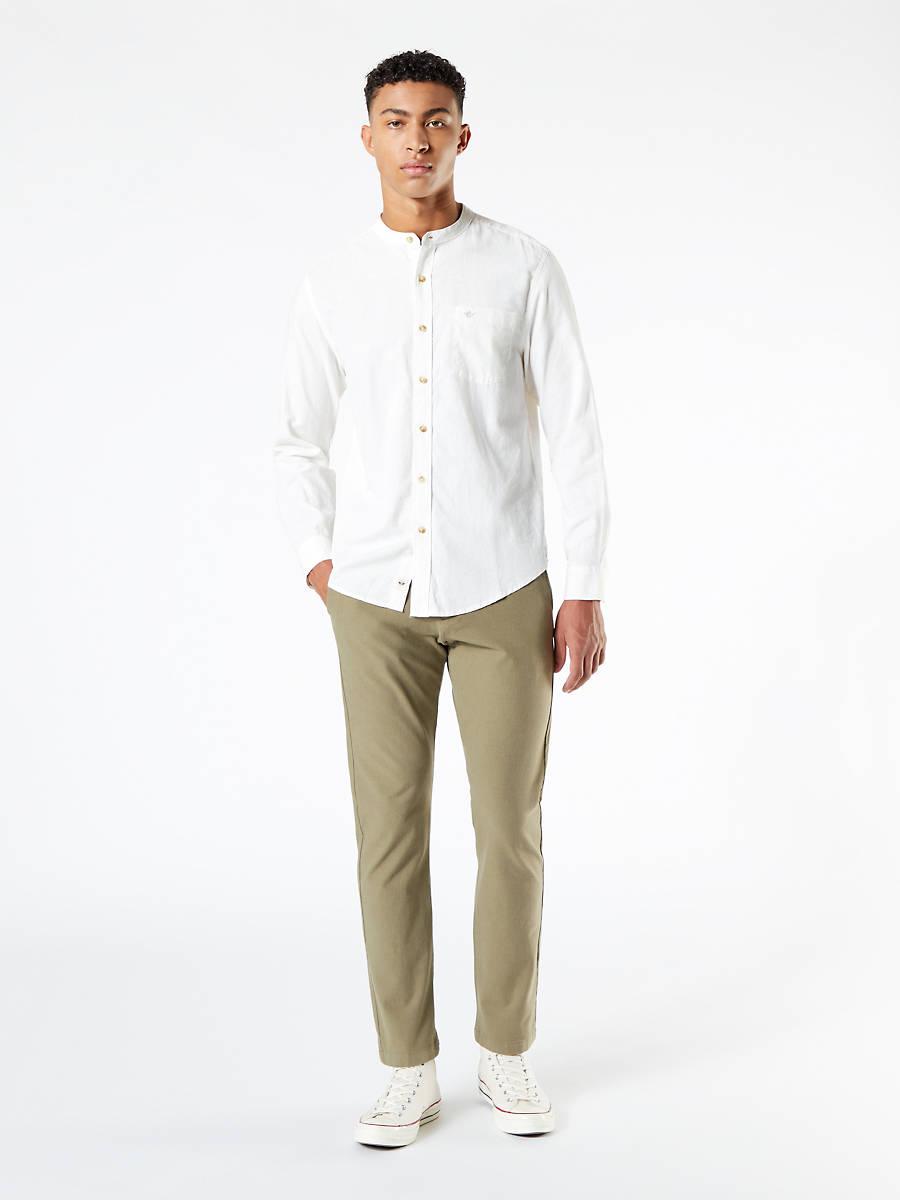 Camisa en cáñamo y algodón blanca