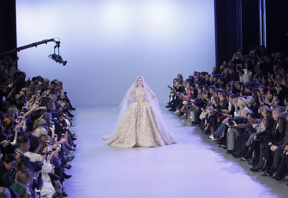 vestido de novia Elie Saab Alta Costura Primavera-Verano 2014