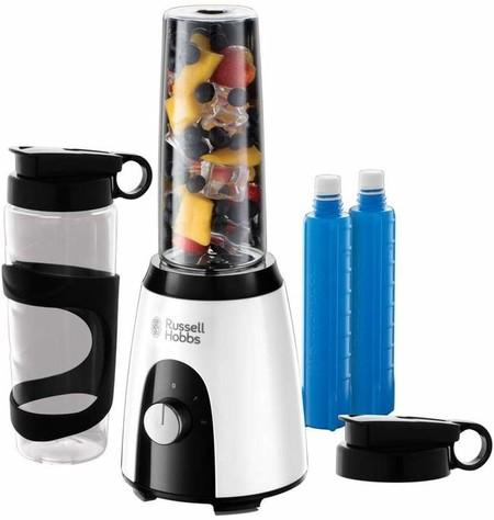 Russell Hobbs Horizon Mix Go Boost Batidora De Vaso Individual 400 W Sin Bpa Blanco Y Negro 2 Vasos De 600 Ml 2 Tubos Refrigeradores