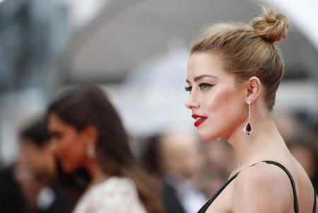 Amber Heard se lleva la palma de oro a la originalidad por su maquillaje en la alfombra roja del Festival de Cannes 2018