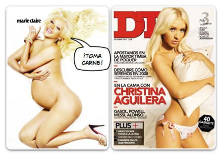 Christina Aguilera, otra que se desnuda (por partida doble)