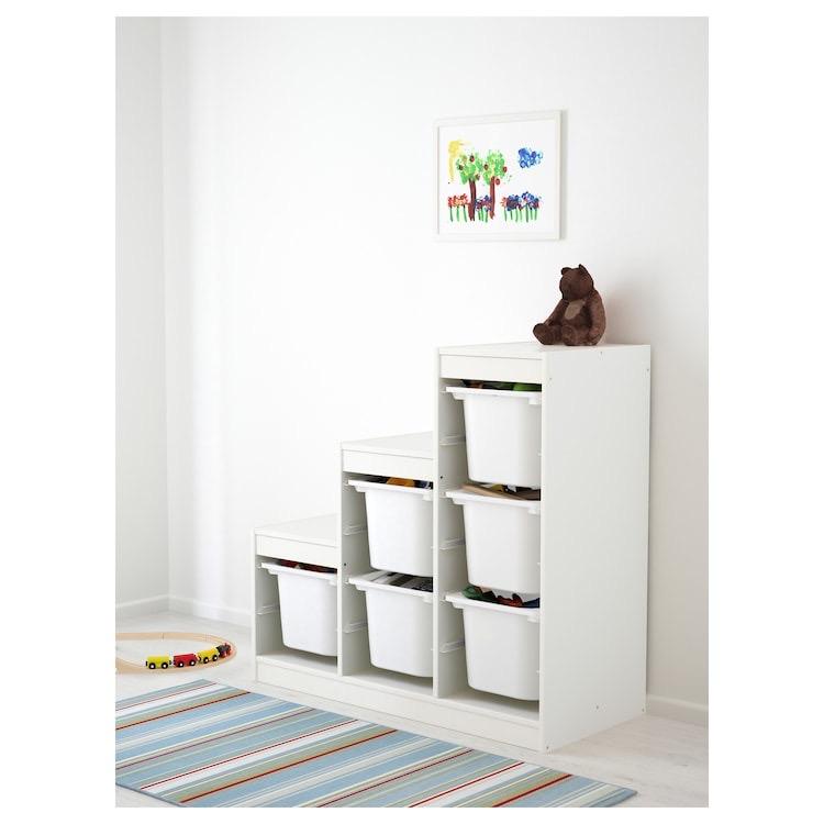 Combinación de armario y estantería en blanco